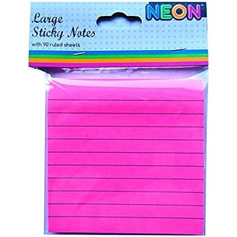 Foglietti adesivi grandi dimensioni Notepad–Neon Rosa, 90fogli,