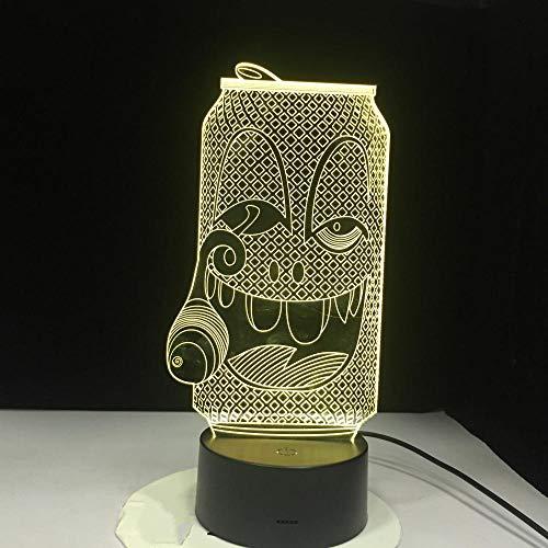 Schreibtischlampe Rauchen Flaschen 3D Bunte Nachtlichter Fernbedienung 3D Vision Lichter Tischlampen Wohnkultur Lampe -