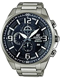 Casio Edifice Herrenuhr Analog Quarz mit Edelstahlarmband – EFR-555D-1AVUEF