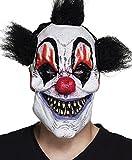 Maschera Horror Scary Clown in lattice con capelli
