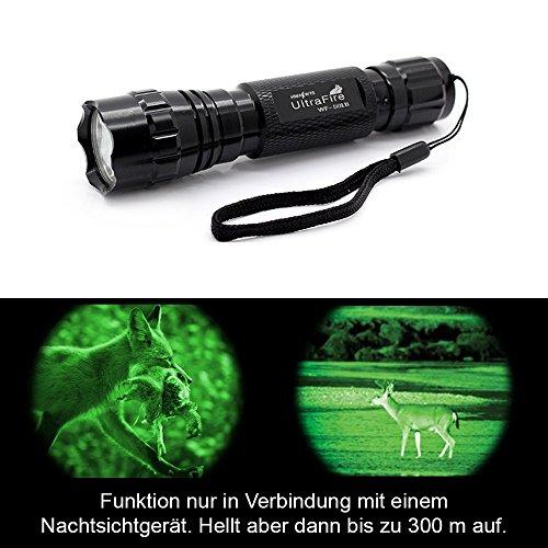 infrarot-ultrafire-wf-501b-led-taschenlampe-800-lumen-aufheller-effekt-nur-in-verbindung-mit-nachtsi