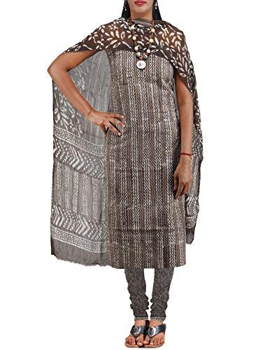 Unnati Silks Women Unstitched grey pure Rajasthani soft cotton salwar Kameez