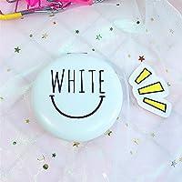 Preisvergleich für Baby-lustiges Spielzeug Mini Runde WEISS Brief Muster Glas Spiegel Kreise für Handwerk Dekoration Kosmetik Zubehör Weiß