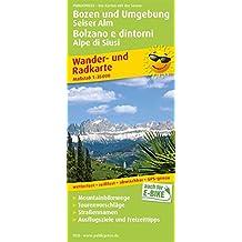 Bozen und Umgebung, Seiser Alm / Bolzano e dintorni, Alpe di Siusi: Wander- und Radkarte mit Ausflugszielen & Freizeittipps, wetterfest, reißfest, ... 1:35000 (Wander- und Radkarte / WuRK)