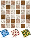 30 Chocolate Truffle - Self Adhesive Mosaic Wall Tile Decals For 150mm (6 inch) Square Tiles -(P1)- Simply peel and stick on tiles to completely transform your kitchen, bathroom or wherever you have tiles - DURABLE: Oil-proof, Waterproof, Heat Resistant and Bleach Resistant -- Very Realistic Looking Stick On Wall Tiles Transfers. THESE ARE TOP QUALITY FAST SELLING Bathroom Tile Stickers \ Kitchen Tile Stickers - 1000s SOLD (Chocolate Truffle, Full Pack Of 30)