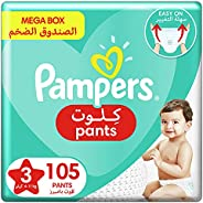 Pampers Pants, Size 3, Midi, 6-11 kg, Mega Box, 105 Diapers