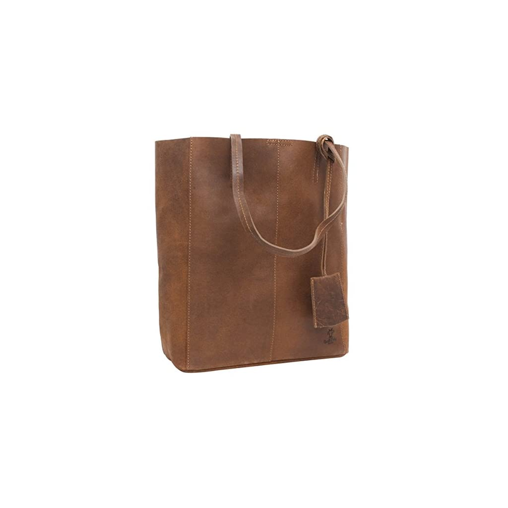 Gusti Leder studio Cassidy borsa shopping per acquisti passeggio da donna a spalla in vera pelle di bovino marrone 2H51-33-1