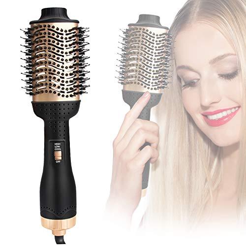 MEKUULA Haartrockner, Warmluftbürste Haarglätter Bürste 5 In 1 Upgrade Hair Dryer & Volumizer Anti-VerbrüHen Warmluft und Volumenbürste Negativ Lonen Salon StylingbüRsten für Alle Haartypen