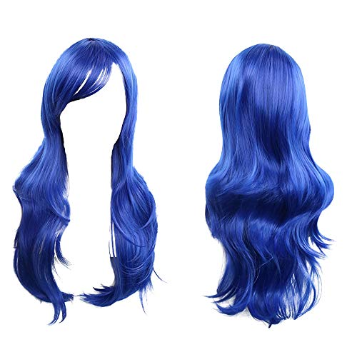 Skays fashion parrucca lunga, resistente al calore, 58,4cm 70cm da donna, capelli biondi lunghi ricci parrucche piene per le donne resistente al calore 10colori opzionale