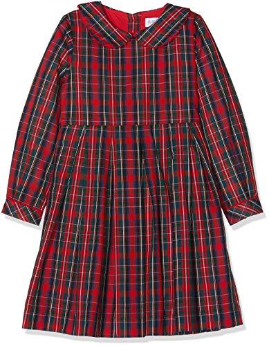 Rachel Riley Mädchen Tartan Dress Kleid, Rot (RED), 3 Jahre