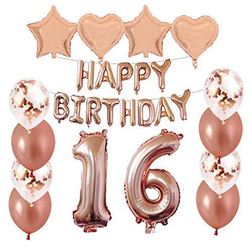 Sweet 16 Party Supplies - Crazy-m 16 Geburtstag Dekorationen Kit Folienballon