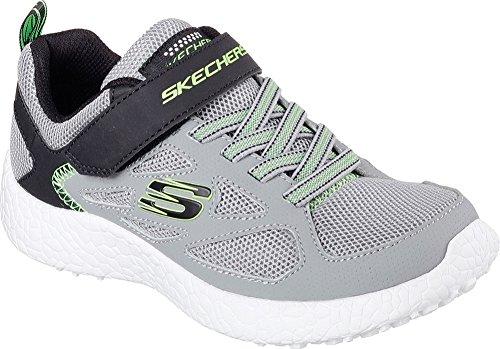 Skechers Burst Power Sprints - Baskets scratch - Garçon gris/noir