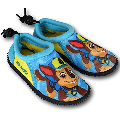 Wasserschuhe Kinder Disney Motiv- und Größenauswahl - Kinder Aquaschuhe - Badeschuhe - Strandschuhe - Surfschuhe (24, Paw Patrol)