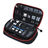 BAGSMART Travel Electronic Accessories Small Thicken Cable Organizer Bag Portable Case - 3 Layer Black