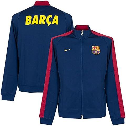 Nike veste de survêtement pour homme fC barcelona authentic n98 track SMALL Bleu - Loyal Blue/Noble