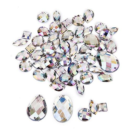 Cristal Botón De Costura Decoración Artesanía Bricolaje Estilos 50p