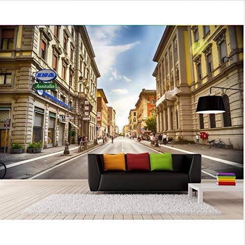 Wmbz murale personalizzato 3d carta da parati europea città strade decorazione della casa pittura murales 3d carta da parati per soggiorno-450x300cm