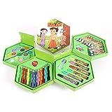 Trade Globe Colors Box Color Pencil ,Crayons, Water Color, Sketch Pens Set of 46 Pieces