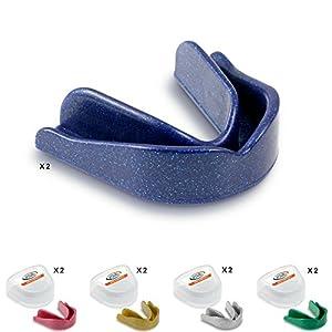 10x Game Guard Mundschutz/Zähne Guard/,–gemischt Sparkles, Gold, Silber, Blau, Grün und Pink, Mundschutz, CE-zugelassen, ideal für Schule Sport