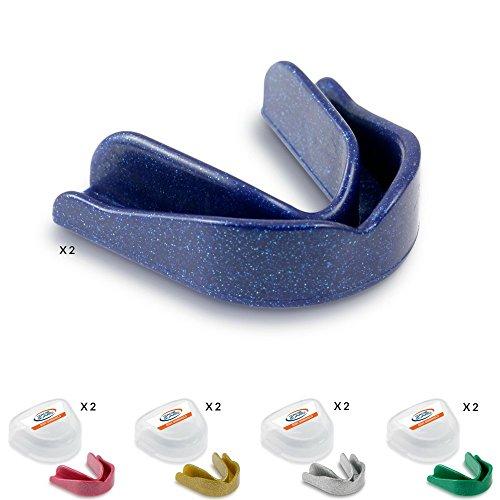 Game Guard 10x Mundschutz/Zähne Guard/,-gemischt Sparkles, Gold, Silber, Blau, Grün und Pink, Mundschutz, ideal für Schule Sport -