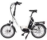 GermanXia Premium Elektro-Faltrad Mobilemaster cm 8G Nabenschaltung Shimano mit Rücktrittbremsen, max. 80 NM Mittelmotor mit Drehmomentsensor, bis zu 145 km nach StVZO