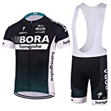 logas Herren Radtrikot 3D Padded Bib Shorts Bekleidung Wear Outdoor-Sommer-Breathable Kurze Hülsen-Fahrrad-Sportbekleidung Set