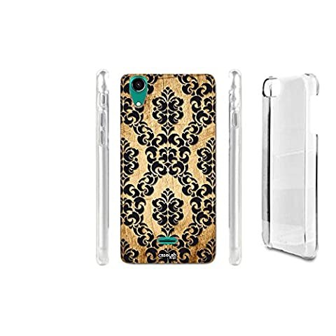 CASELABDESIGNS HARD BACK CASE COVER EFFETTO LEGNO TRAMA WALL FOR WIKO RAINBOW 2 - BODY IN HARD MATERIAL PROTECTIVE SHOCK