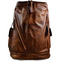 Mochila de piel vintage mochila piel lavada mochila marrón hombre mujer mochila viaje mochila de cuero mochila sport bolso de espalda