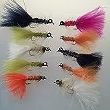 Fliegen Angeln Hund Nobbler Auswahl Zehn Fliegen verschiedene Farben und Größen