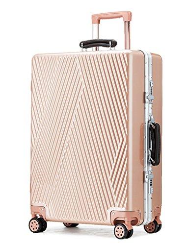 Trolleykoffer Universal - rund Twill Spiegel Crash Passwort Gepäcktaschen 20 Zoll / 24 Zoll ( Farbe : 3 , größe : 20 inch ) 1