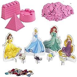 ColorBaby - Arena mágica Princesas de Disney - 3 moldes Rosa (76744)