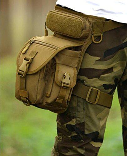 freedom-vp sport militare tattico multiuso Racing Drop Leg bag motorcycle Outdoor Bike Cycling Thigh bag marsupio per escursionismo caccia, Army Brown