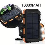 Chargeur solaire 10000mAh,VivoStar Banque D'énergie Solaire Sauvegarde Externe Batterie Dual USB Chargeur Pour - Best Reviews Guide