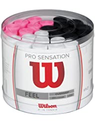 Wilson - Grip para raqueta de tenis ( pack de 100 grips ), color blanco / negro / rosa