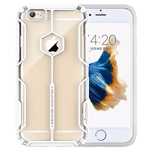 Phone case & Hülle Für IPhone 6 Plus / 6s Plus, Battle Suit Shape Colorized TPU + Transparente PC Schutzhülle Back Cover ( Color : Black ) White