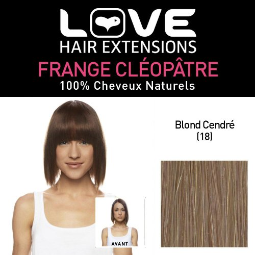 Love Hair Extensions LHE/FRA1/QFC/CLEOPATRA/18 Clip-In Cleopatra Fringe 100 % Natural Hair Colour 18 Ash Blonde