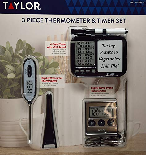 Taylor Thermometer und Timer Set, 3-teilig Taylor Thermometer