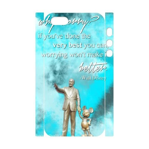 HFHFcase Custom 3D-printed Case for Iphone5, Iphone 5S, Walt Disney Quotes 3D Iphone5, Iphone 5S Case