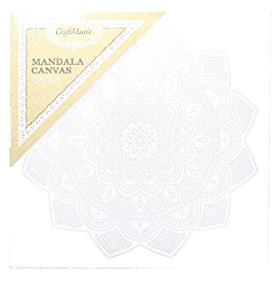 CraftMania Mandala Canvas Art Therapeutic & Mindfullness Painting 25 x 25cm - cheap UK light store.