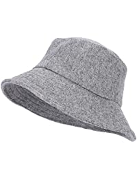 Fedora Hats for Women and Men Bucket Hat Vintage Floppy Wide Brim Wool Felt  Cloche Hat 21e4165ef1e