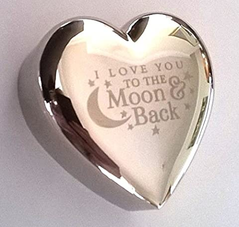 I LOVE YOU TO THE MOON & BACK Silver finish