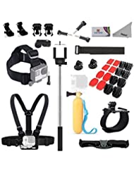 Deyard Pro11 GoPro Accessories Bundle Kit for GoPro Fusion Gopro Hero 5 Session Hero 4 Session, GoPro Hero 6 5 4 3 GoPro Hero Mounts Kit for Xiaomi Yi AKASO Crosstour Apeman Sony Action Camera