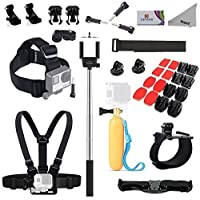 Deyard Pro11 GoPro Accessories Bundle Kit for GoPro Fusion Gopro Hero 5 Session Hero 4 Session, GoPro Hero (2018) Hero 6 5 4 3 GoPro Hero Mounts Kit for Xiaomi Yi AKASO Crosstour Apeman Sony Action Camera