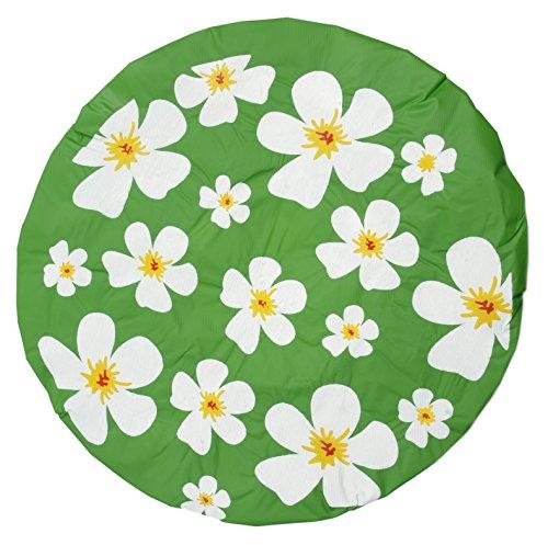 Bonnet de douche Vert Motif à fleurs