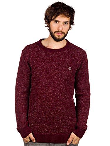 Herren Strickjacke Element Wacker Pullover Crimson Red