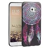 Asnlove Galaxy S6 Edge Hülle, TPU Handy Schutzhülle für Samsung Galaxy S6 Edge Silikon Weich Handytasche Traumfänger Tasche Schutz Cover