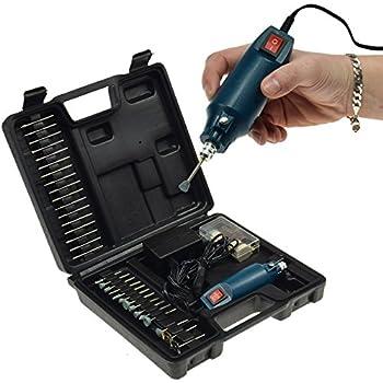 Zaeel Mini Outil de Rotation /Électrique Grinder Multifonction Outils de Vitesse R/églable 3000-20000 RPM pour Polissage Graver Meulage et Noeud avec 56 Accessoires et coffret de rangement