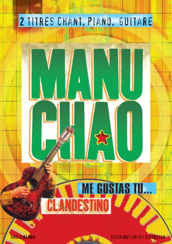 HIT DIFFUSION MANU CHAO - CLANDESTINO ET ME GUSTAS TU - PVG Noten Pop, Rock, .... Blatt