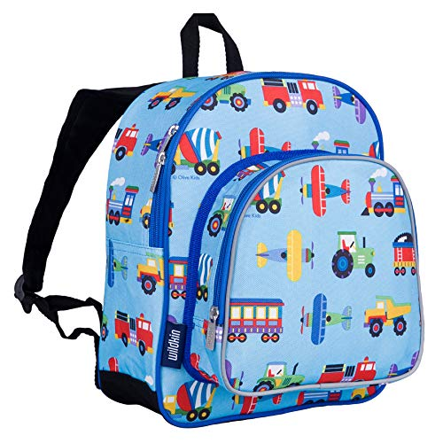 Wildkin Trains, Planes & Trucks Pack 'n Snack Backpack