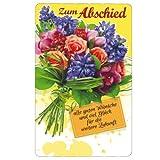 Susy Card 11288974 Glückwunschkarte Abschied, Blumenstrauß, A4